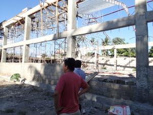 ドゥマゲッティのスポーツコンプレックス&商業施設建設中視察