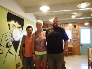 ドゥマゲッティ海洋保護団体の創設者夫妻との会談