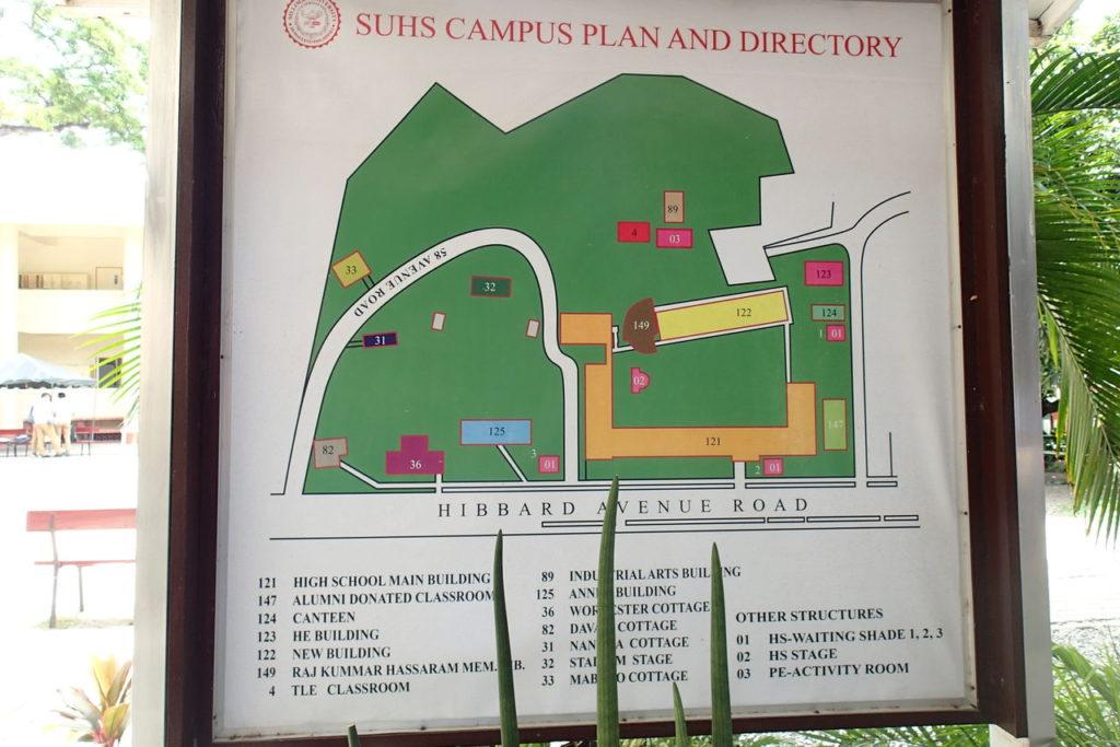 シリマン中高校敷地内地図