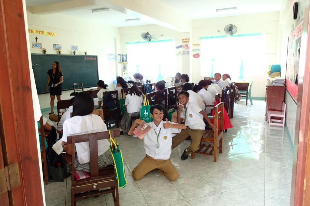 セントポール中学校教室